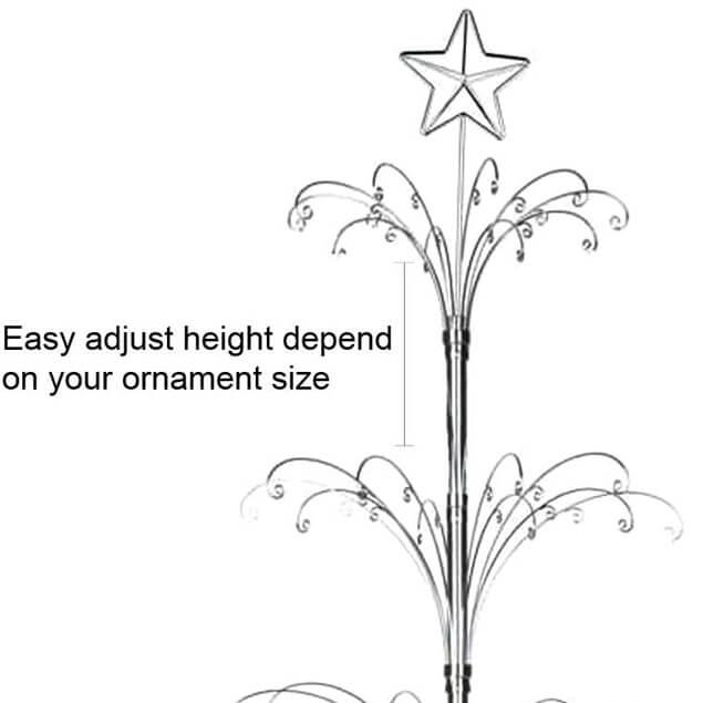 Ornament Display Tree Metal Christmas Stand Large 26002MS4 | Hohiya